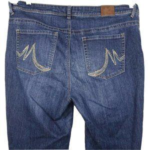 Maurices Jeans Bootcut Women Size 18W Reg. Blue